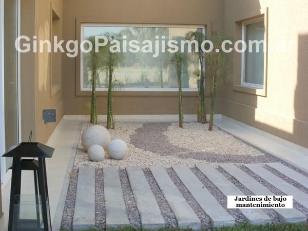Ginkgo paisajismo jardines de bajo mantenimiento for Jardines de bajo mantenimiento